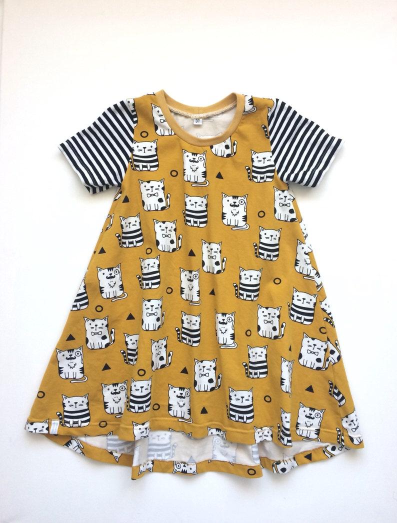 b93639da77d Girl s tshirt dress with short sleeves. Summer dress.