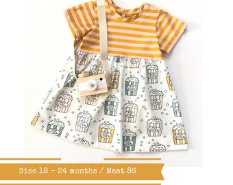 Girls dress with popcorn. Size 18 - 24 months