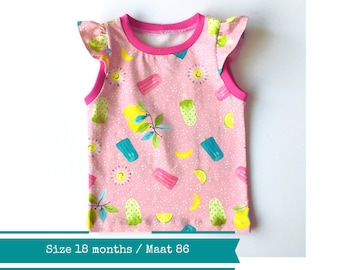 Tank top with popsicles and lemons. 18 - 24 months