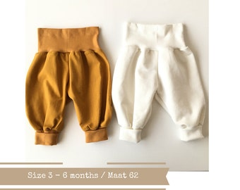 Bubble pants. Size 3 - 6 months. Yellow or off white