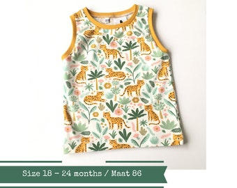Tank top with leopards. 18 - 24 months
