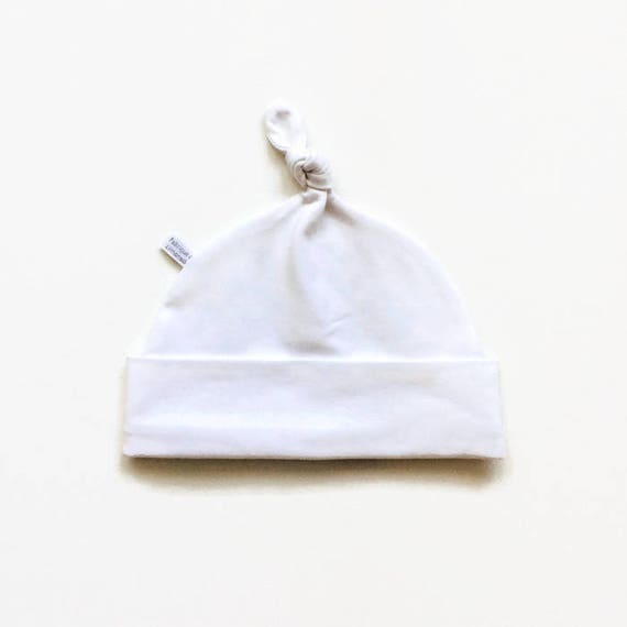 14833891eb6 White baby hat organic cotton hat baby knotted hat baby