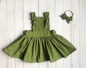 Green Baby Dress Etsy