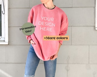 Oversized Sweatshirt Hipster Sweatshirt Vintage Sweatshirt Comfort Colors Sweatshirt Retro Sweatshirt Custom City and State Sweatshirt