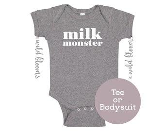 759aafdaf Milk Monster Baby bodysuit, Breastfeeding bodysuit, Funny baby one piece