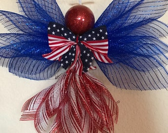 Red, White and Blue Patriotic Angel