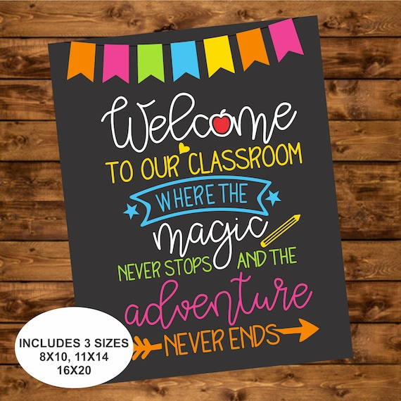 photograph regarding Welcome Back Signs Printable named Welcome in direction of our Clroom Indicator, Instantaneous Obtain, Back again toward