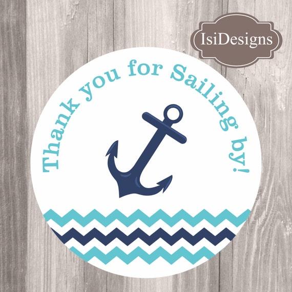 image about Printable Anchor named Anchor Like Tags, Printable Nautical Teal and Military Thank