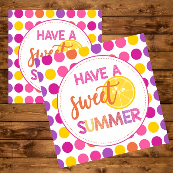 image about Have a Sweet Summer Printable identified as Printable Prefer Tag, Close of Faculty Yr, Celebration Choose Tags