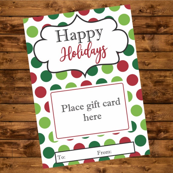 photograph relating to Printable Gift Card Holder referred to as Joyful Holiday seasons Reward Card Holder, Immediate Down load, Printable