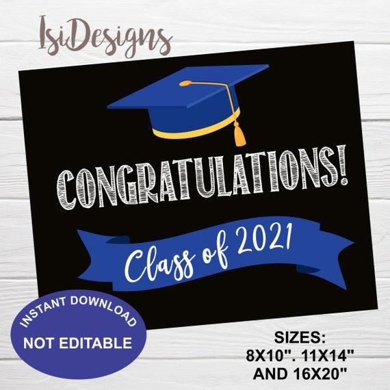 2021 Graduation Fact Poster Yellow