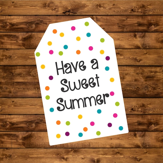 image regarding Have a Sweet Summer Printable known as Summertime Like Tag, Immediate Down load, Printable Consist of a Adorable
