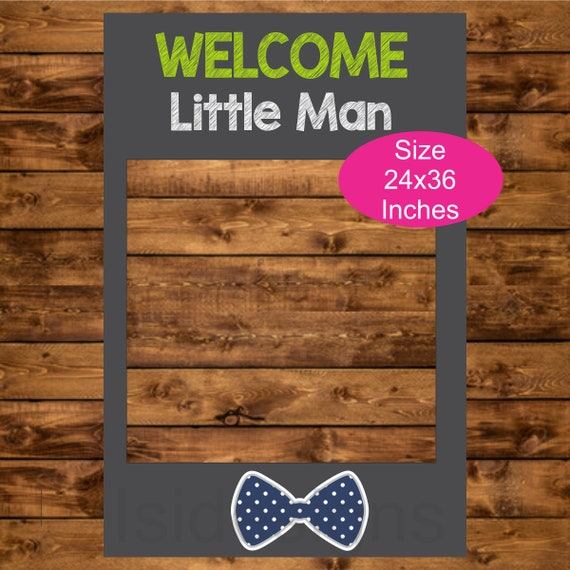 Little Man Baby Shower Phot Booth Frame Instant Download Etsy