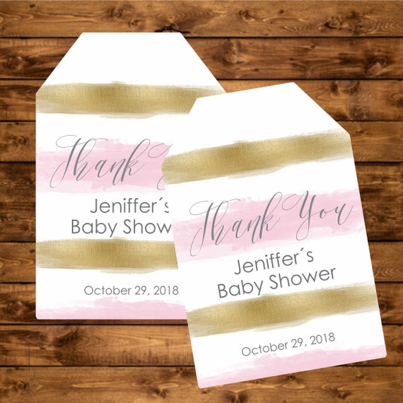 photograph regarding Printable Baby Shower Gift Tags identified as Blush and gold little one shower prefer tags, customized tags