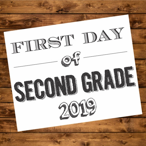 picture about First Day of 2nd Grade Printable Sign named Initial Working day of College or university Picture Prop, 2nd quality printable signal