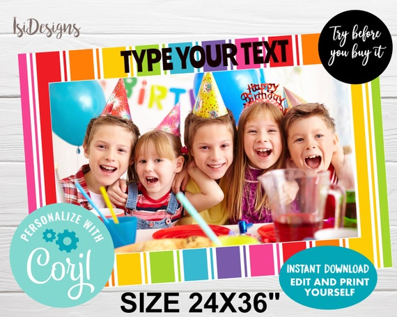 Rainbow Photo Booth Prop and Decoration Set Digital Download INSTaNT DOWNLoAD Printable Includes 200 Images in PDF and Jpeg Format