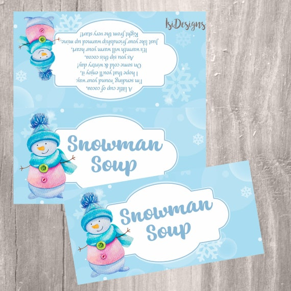photo relating to Snowman Soup Free Printable Bag Toppers known as Snowman Soup Handle Bag Topper, Printable Xmas Sweet Bag