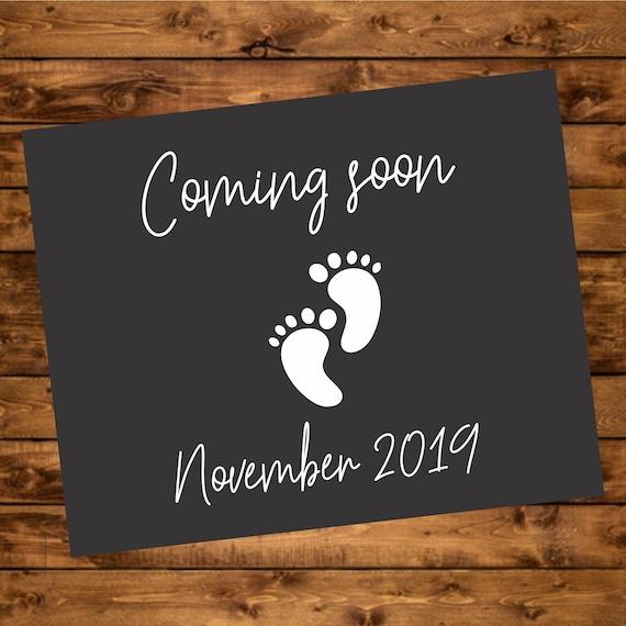 Baby Coming Soon Chalkboard Baby Due November Printable