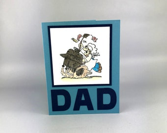 Hand Stamped Father's Day - Card for Dad - Card for Grandfather - Greeting Card - Handmade Card - Bar-b-que Dad - BBQ Dad - Grill Master