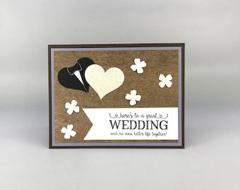 Rustic Wedding Card - Country Wedding Card - Outdoor Wedding Card - Stampin' Up! Card - Greeting Card - Handmade Card - Heart Wedding Card