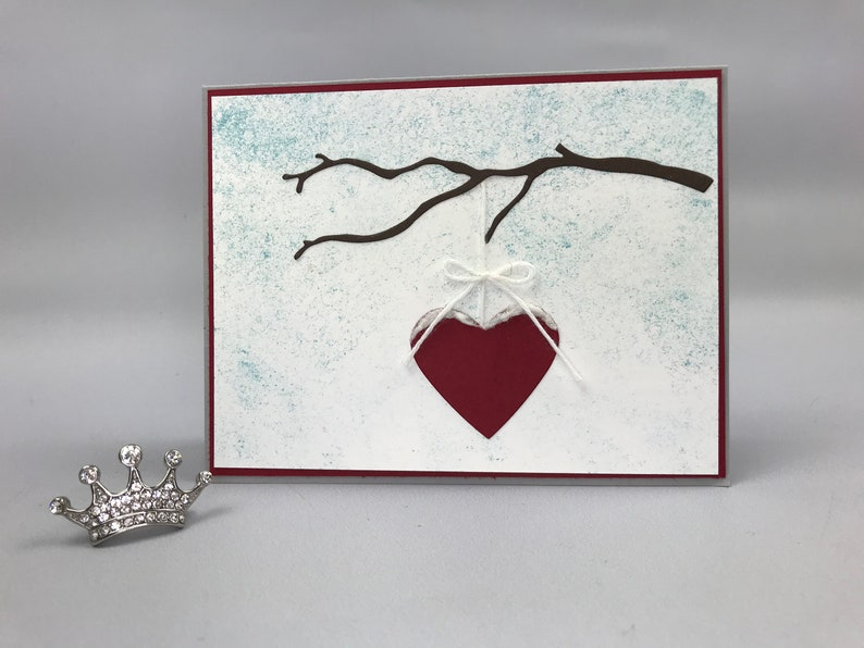 Hand Stamped Valentine's Day Card image 0