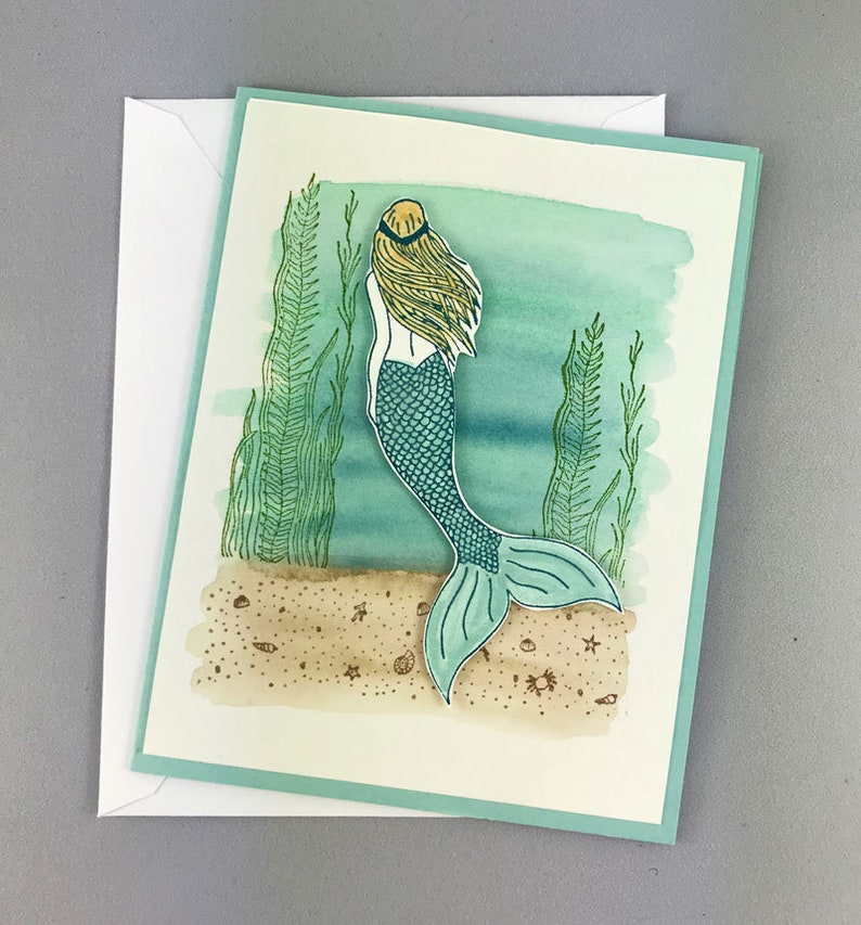 Mermaid Underwater Ocean Birthday Card image 0