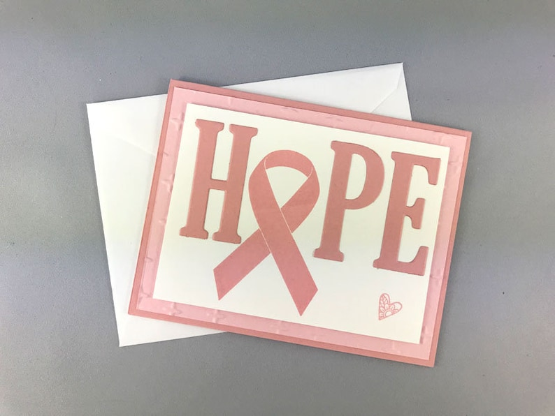 Handmade Breast Cancer Support Card image 0