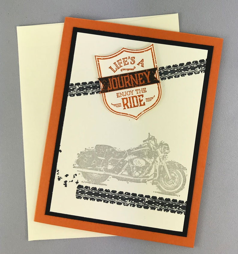 Hand Stamped Motorcycle Card image 0