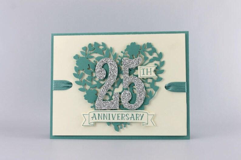 25th Wedding Anniversary Card image 0