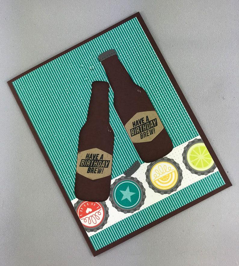 Handmade Beer Birthday Card image 0