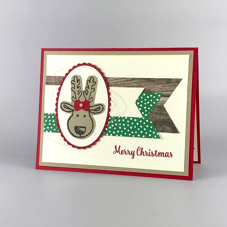 Handmade Reindeer Christmas Card image 0