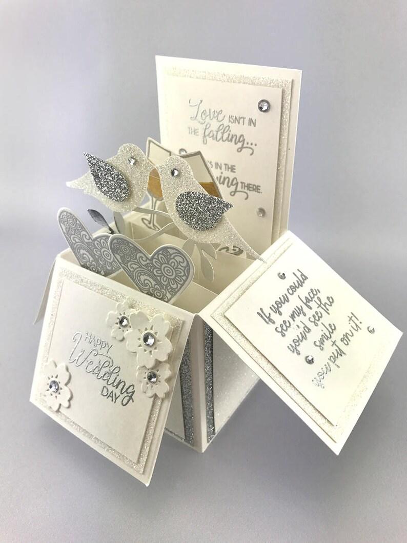 Handmade Wedding Pop Up Explosion Box Card image 0