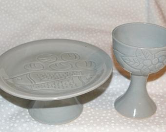 A Commuion Chalice & Paten Set