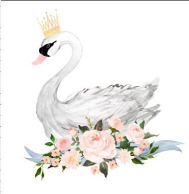 Swan Baby Blanket Princess Swan Throw Baby Shower Gift