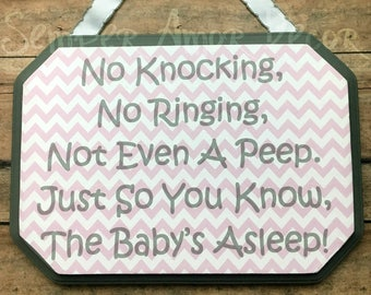 Baby Sleeping Sign, Do Not Disturb Sign, Sleeping Baby Signs, Sleeping Door Sign, Baby Signs, Sleeping Babies Sign, No Knocking Sign, Do Not