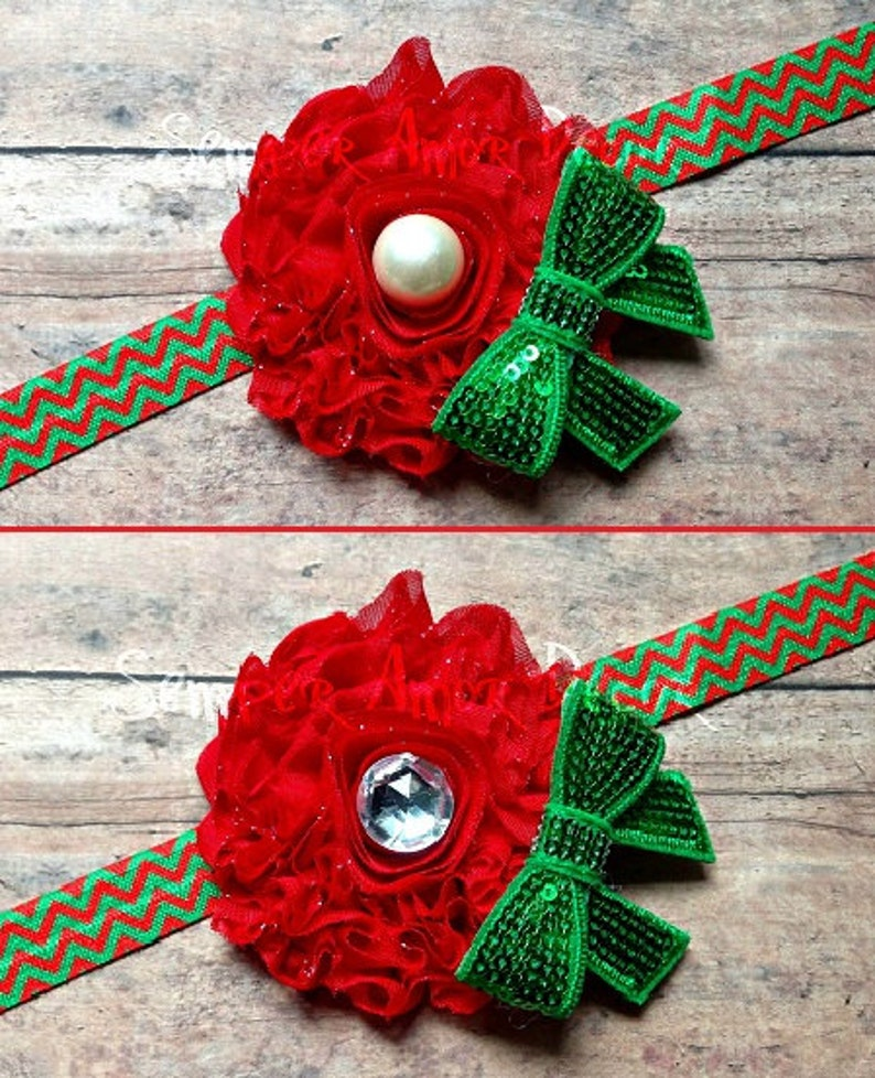 3ec1470d28602 Holiday Hair Bow, Christmas Headband Baby, Holiday Headband, Christmas Hair  Bow, Red And Green Headband, Christmas Baby Bow, Flower Headband