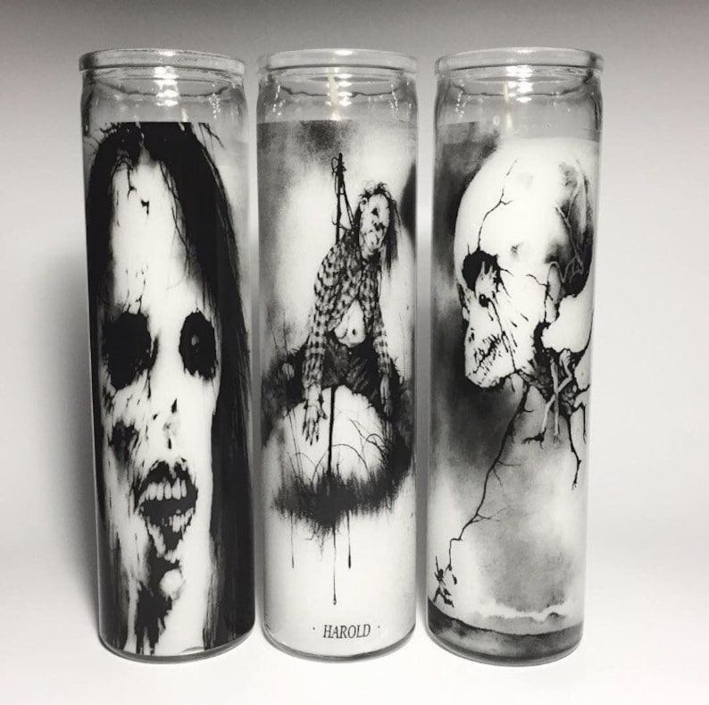 Scary Stories to tell in the Dark Prayer Candle set of 3 image 0