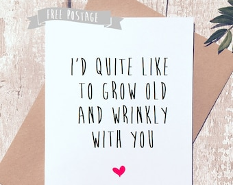 funny greeting Card, valentines day ,happy anniversary, Valentine's Day card, card for him, card for her, humourous card