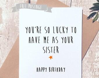 Funny birthday card, birthday card brother, birthday card sister, Greeting Card, birthday card funny, birthday card for her, cards for him,