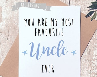 Birthday Card For Uncle Fathers Day Him Cute Greeting