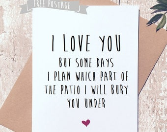 Valentine's Day card, funny card, humorous card, card for him, card for her, boyfriend card, girlfriend card, novelty card, valentines, rude
