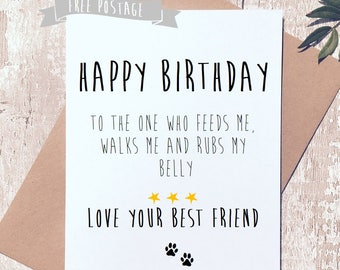 Funny Happy Birthday From The Dog Card
