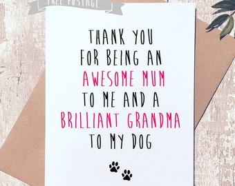 Funny Dog Card Mum Grandma Birthday Happy BirthDay Greetings For Her Lover