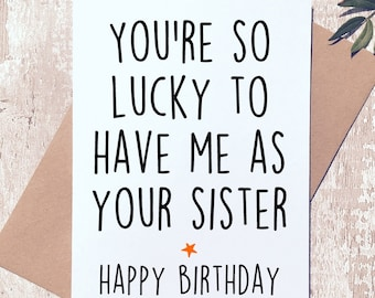Funny Greeting Card For Brother Sister Happy Birthday