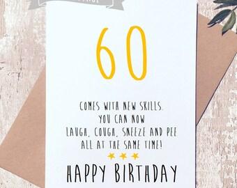 60th birthday card etsy funny 60th birthday card sixty card funny birthday card card for him m4hsunfo Images