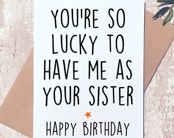 Funny Birthday Card Brother Sister Sibling For Her Cards Himjoke