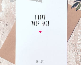 Valentine's day card, Funny card for valentines, love card, card for him, card for her, funny valentine card,
