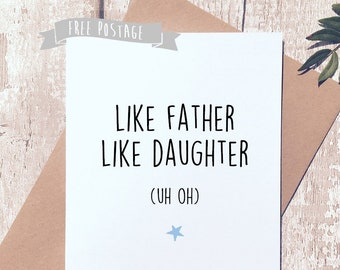 Dad Birthday Card Etsyfunny For Funny From Daughter