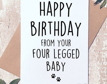 Feste Besondere Anlasse Funny Happy Birthday Card From The Dog Pet