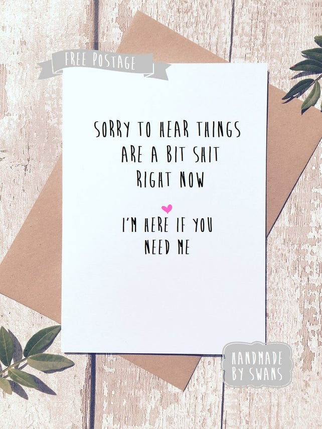 Sympathy card, card for friend, Thinking of you, cheer up friend, Sympathy gift, card for her, card for him, condolences card, grieving
